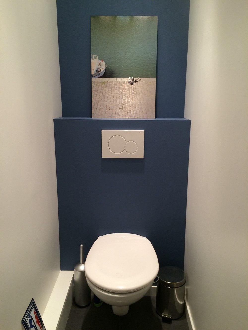 Img_1761-0 | Déco Toilettes, Idée Toilettes, Peinture destiné Toilettes Suspendus