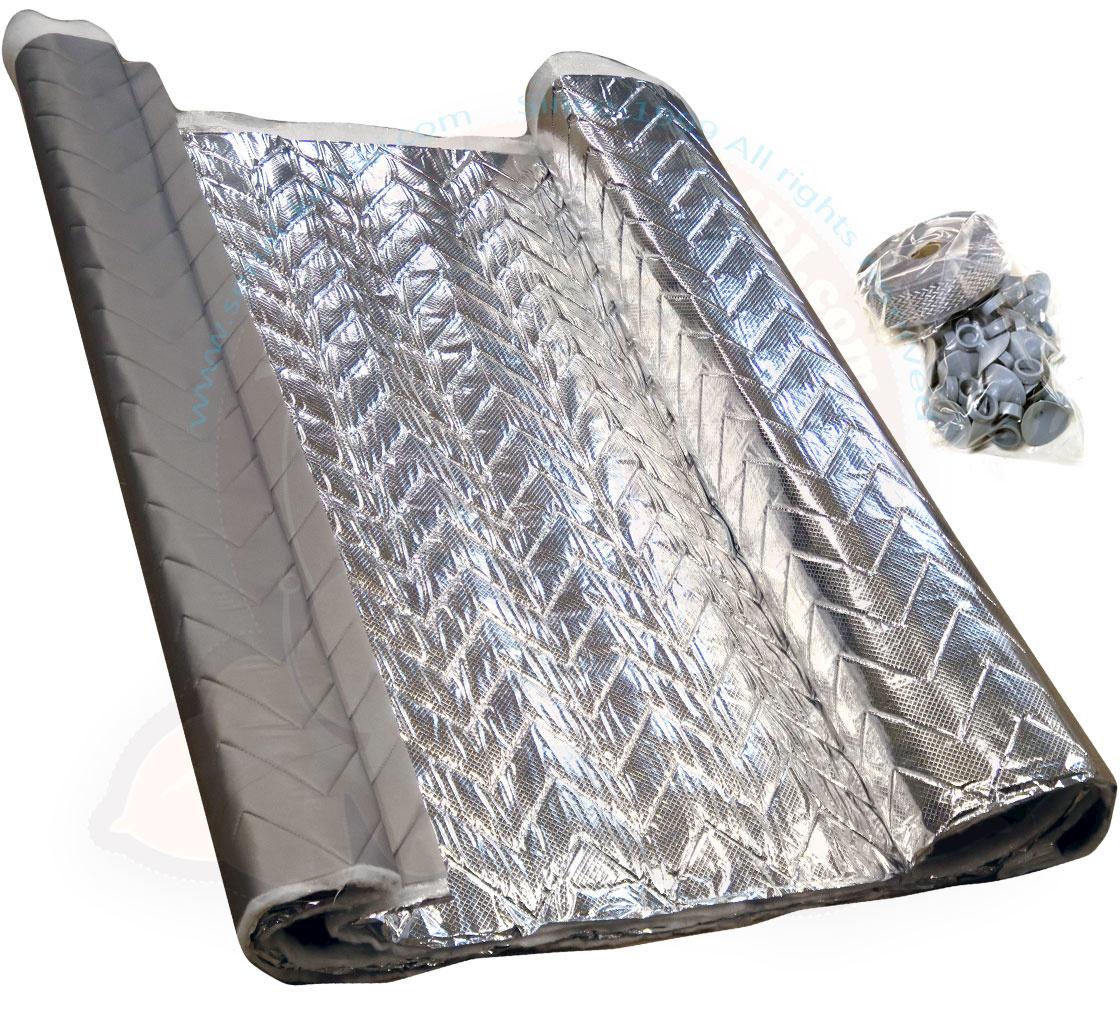 Kit Fabrication Isolant Thermique De Vitre 450Cm X 130Cm X pour Rideau Isolant Vito