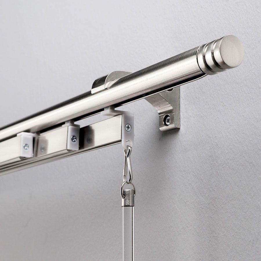 Kit Tringle 4 Panneaux Japonais Ø20X2.30M Anodisé pour Rideau Japonais Design