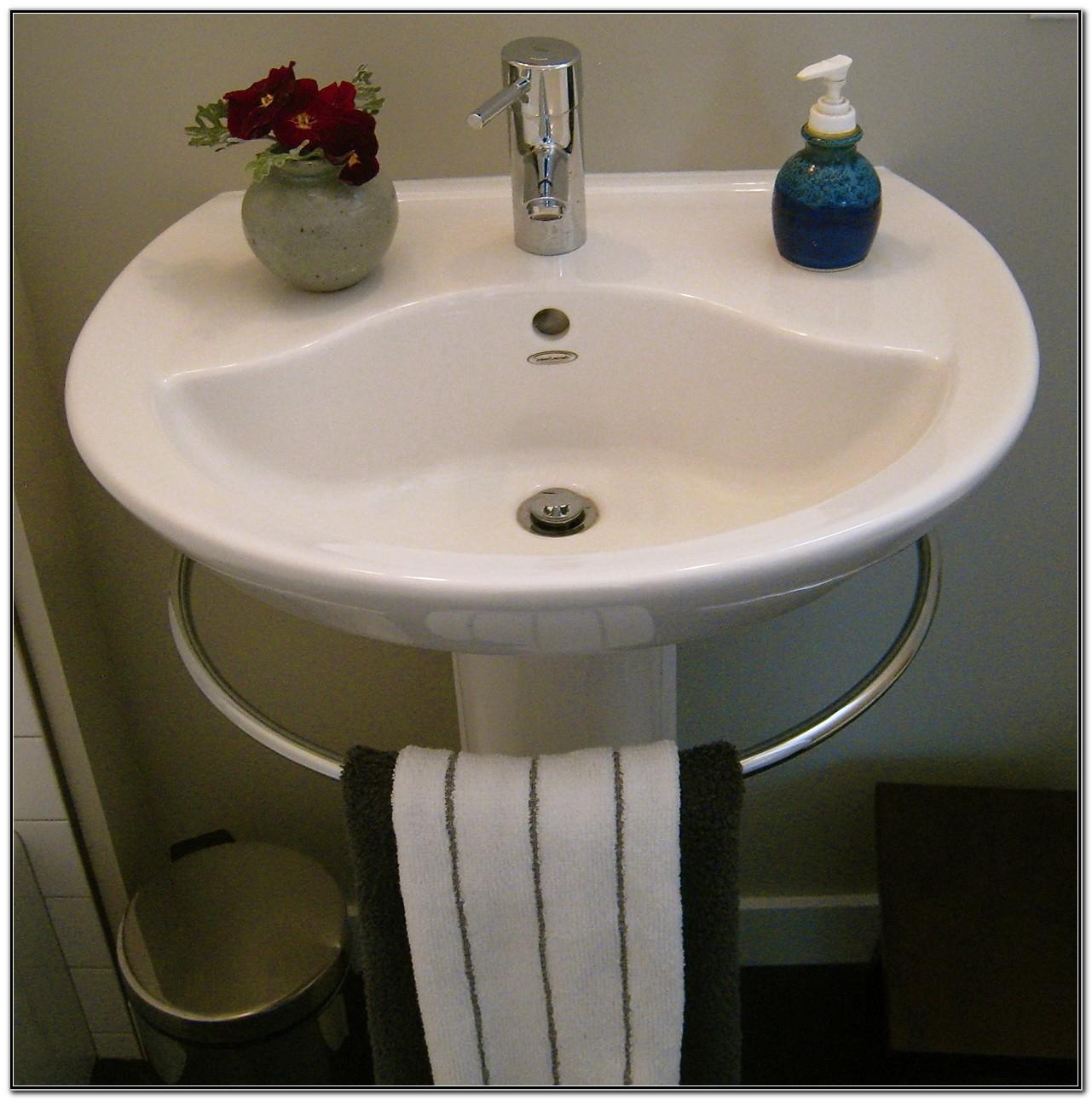 Kohler Pedestal Sink Towel Bar   Tcworks serapportantà Toilette Porcher