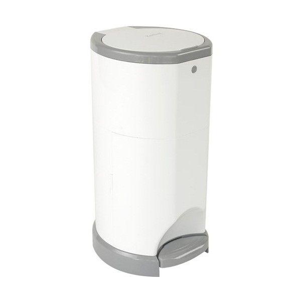 Korbell Poubelle À Couches Blanc/Argent - Accessoires Bain avec Poubelle Toilette
