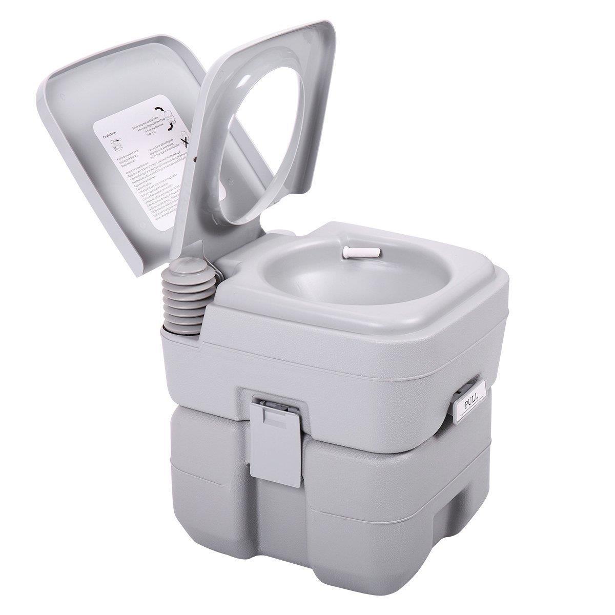 Ktaxon Portable Camping Toilet, 5 Gallon Capacity Leak intérieur Toilettes Portables