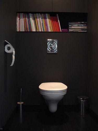 La Décopèlemêle - Visite - Le Noir - - El' Lefébien | Idée intérieur Toilettes Noires