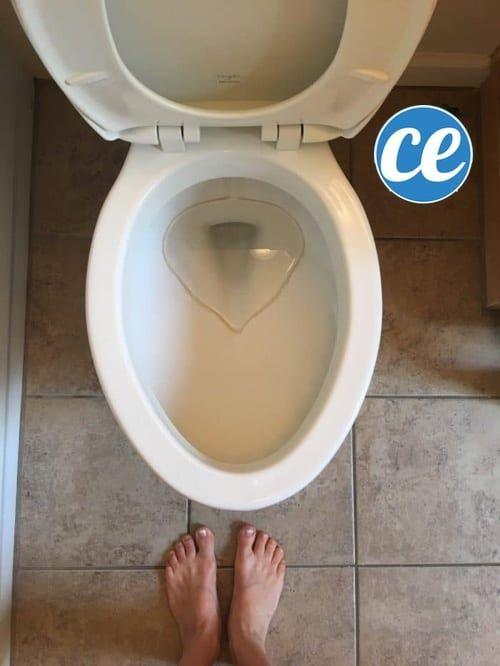 L'Astuce Simple Et Rapide Pour Blanchir Le Fond De La concernant Tartre Toilette