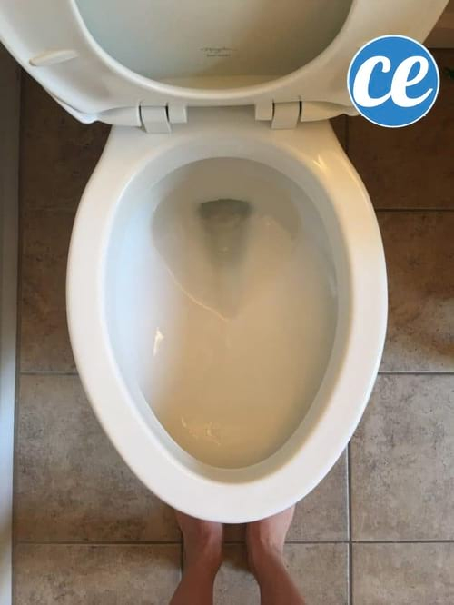 L'Astuce Simple Et Rapide Pour Blanchir Le Fond De La pour Tartre Toilette