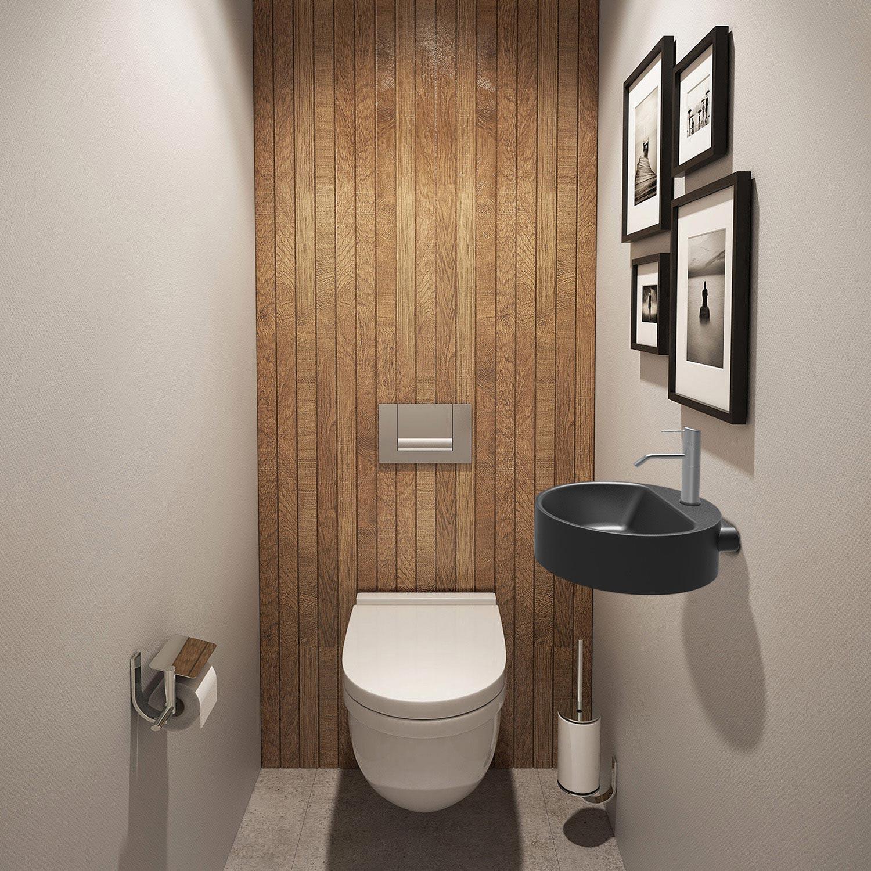 Lave-Main, Meuble Et Sèche-Mains - Wc, Abattant Et Lave intérieur Toilettes Leroy Merlin