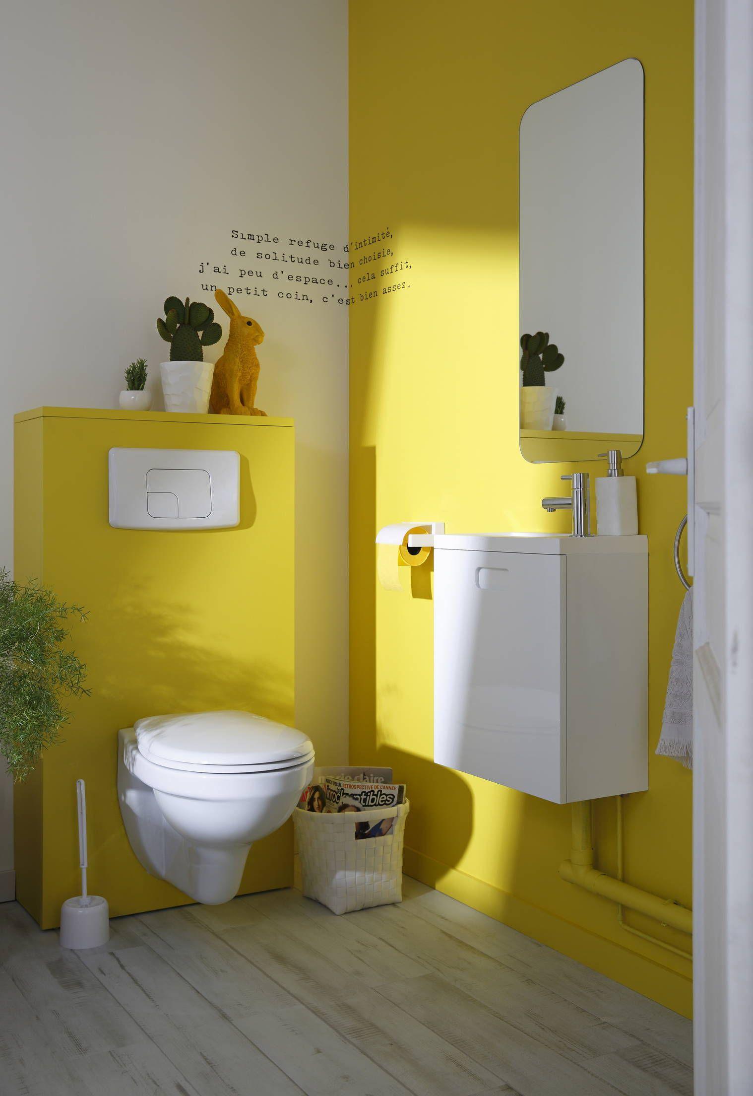 Le Jaune, Très Tendance, Réveille Les Toilettes ! Pourquoi pour Toilettes Suspendus