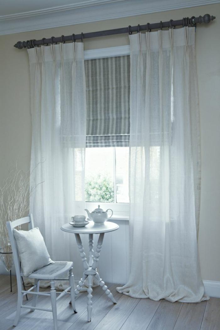 Le Rideau En Lin - Une Belle Décoration Pour L'Intérieur tout Rideau En Lin Blanc