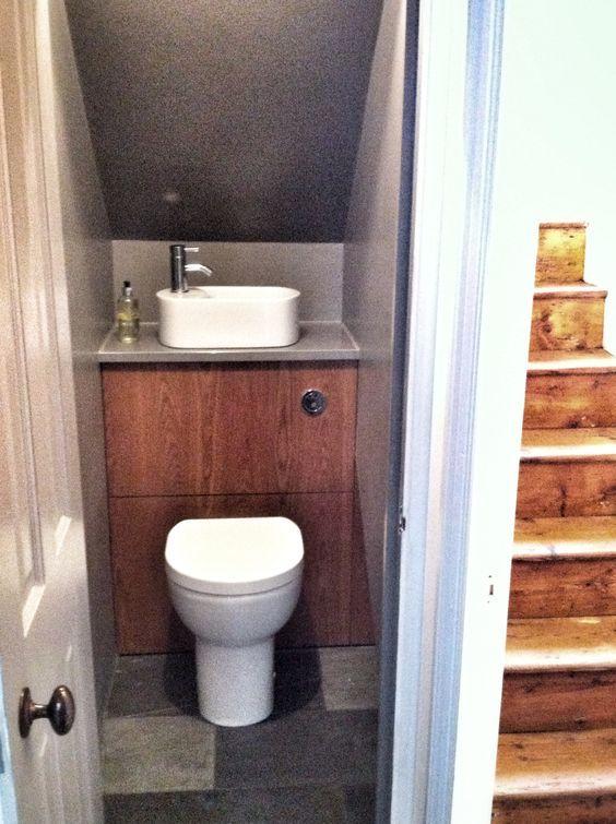 Les 17 Meilleures Images Du Tableau Wc Sous Escalier Sur concernant Toilette Sous Escalier