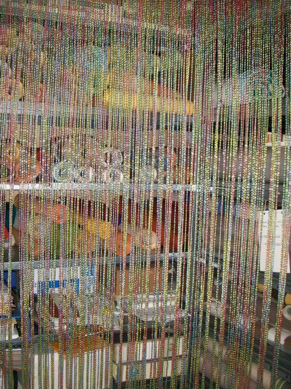 Les Moustiquaires à Rideau De Porte Perles Olives En Bois