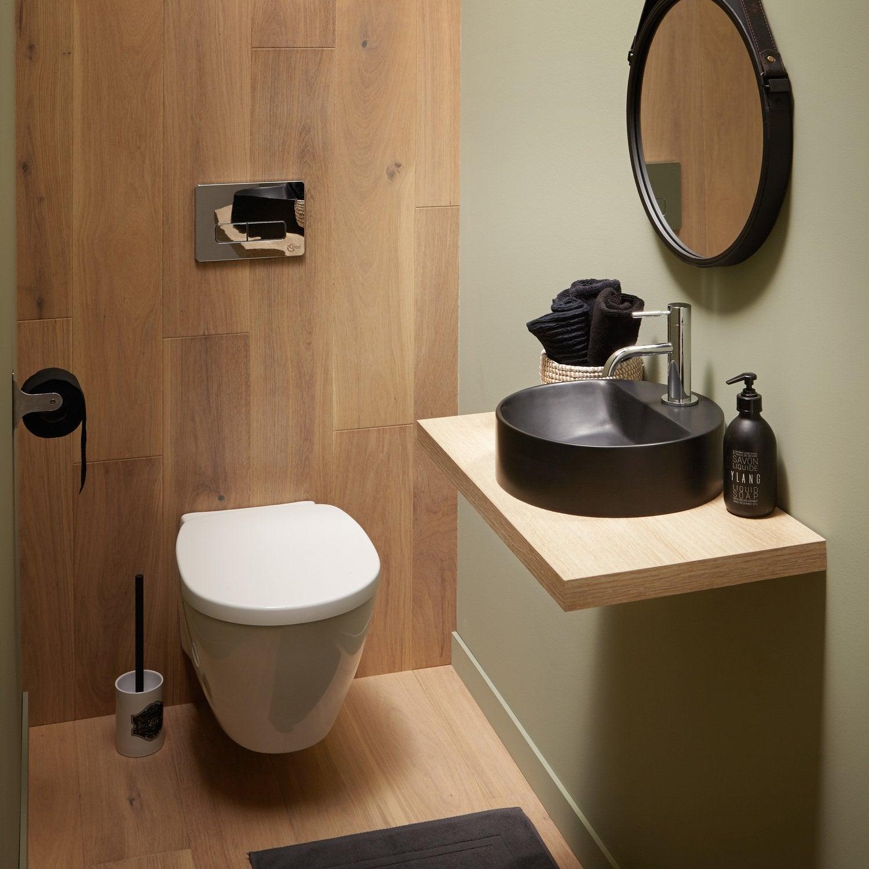 Les Wc Aussi Ont Droit À La Déco   Leroy Merlin tout Toilette Suspendu Avec Lave Main