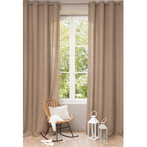 Linge Déco | Curtains, Beige Curtains, Linen Curtains tout Rideau En Lin Beige