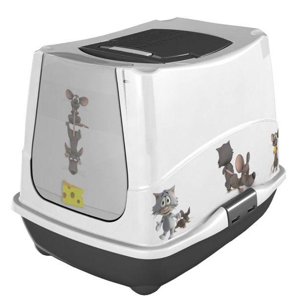 Maison De Toilette Pour Chat Cat & Mice - Anka Carton 40 X à Toilettes Pour Chat