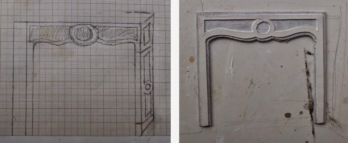 Maison Française 1/12: Parquet-Moulures-Cheminée serapportantà Cheminée En Carton Fiche Technique
