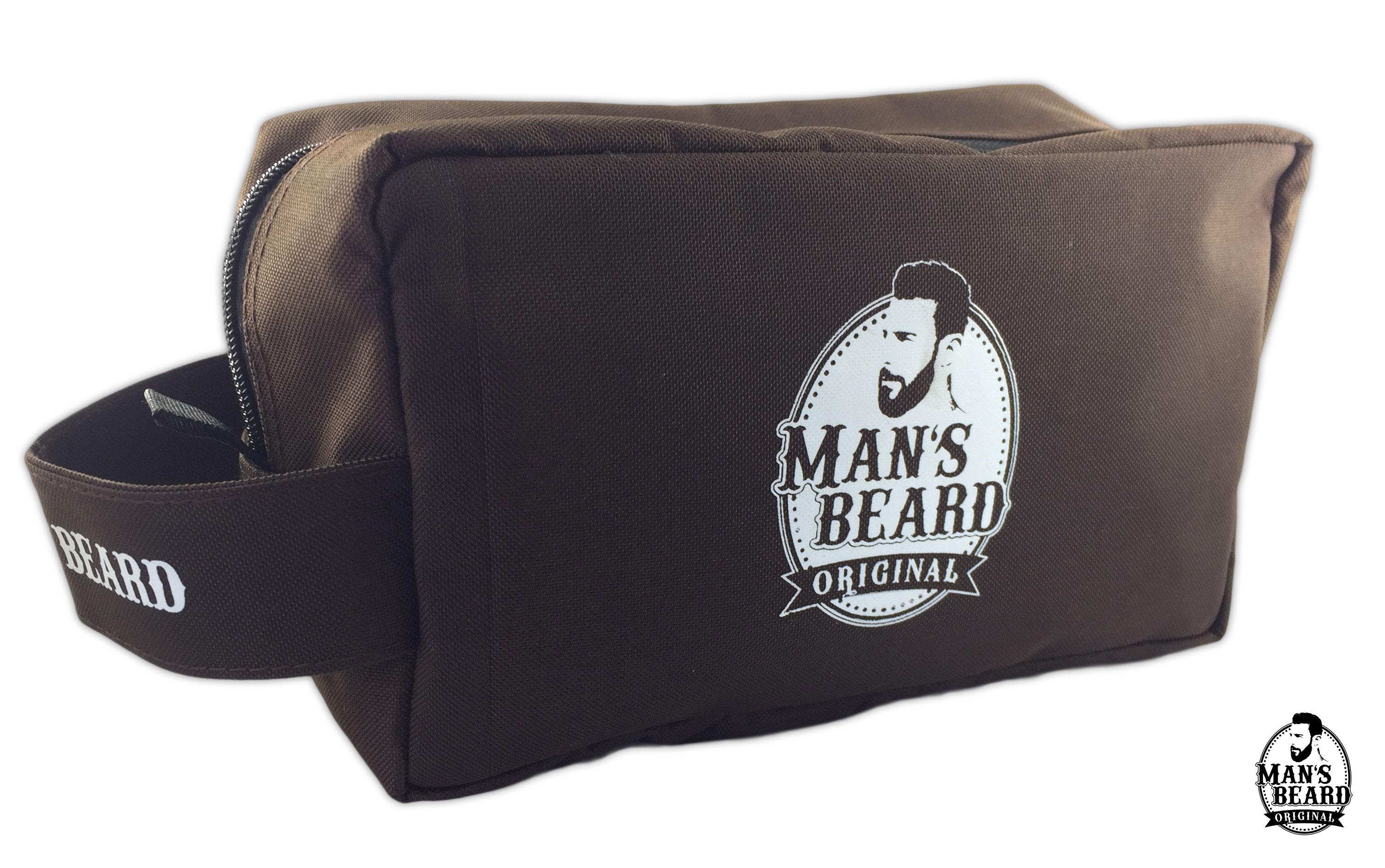 Man'S Beard - Trousse De Toilette En Tissus Marron Man'S avec Trousse De Toilette Homme Le Tanneur