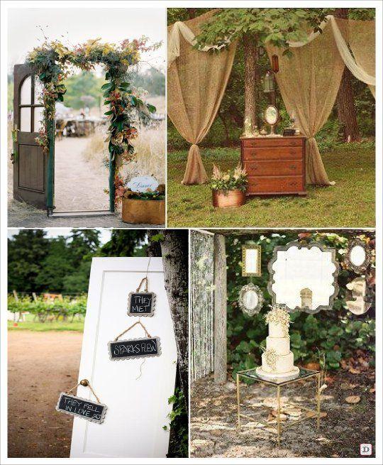 Mariage Exterieur Outdoor Rideau Miroir Porte | Mariage En à Rideau De Porte Exterieur
