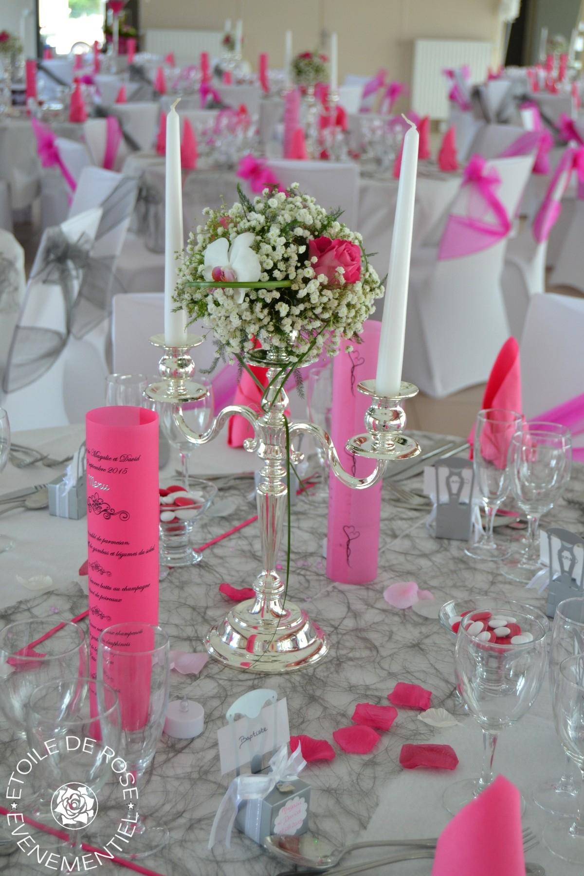 Mariage Fuchsia Gris Blanc | Etoile De Rose destiné Rideau Gris Et Rose
