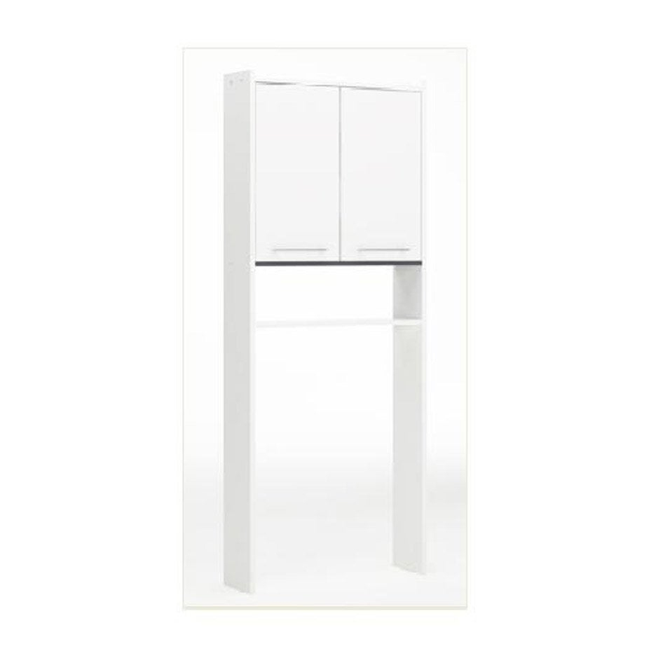 Meuble Pour Wc À Poser L.60.0 X H.182.0 X P.16 Cm Blanc intérieur Toilettes Leroy Merlin