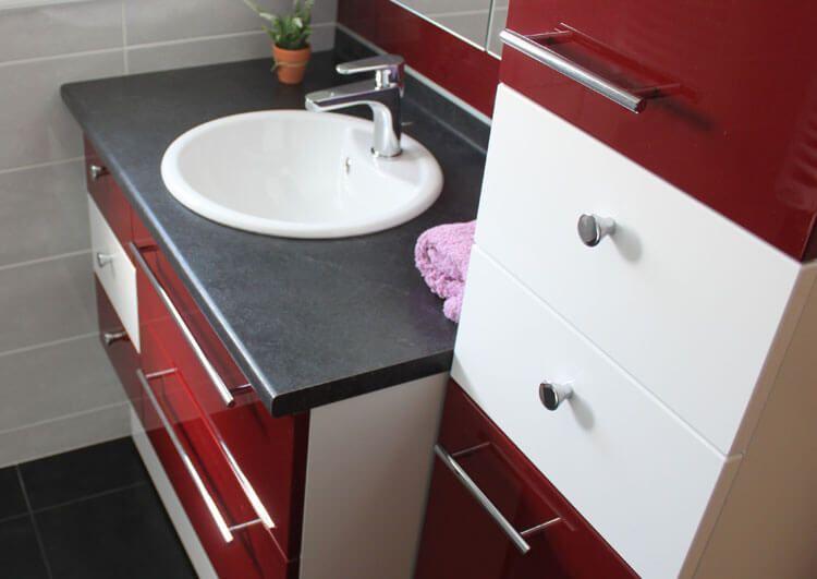 Meuble Très Fonctionnel De 125 Cm Seulement ! - Atlantic Bain intérieur Plan De Toilette Sur Mesure