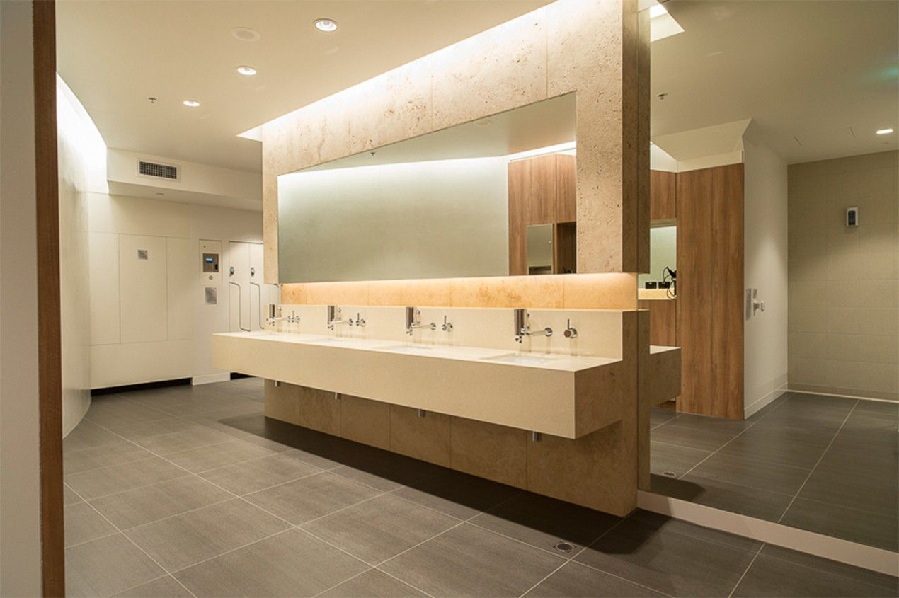 Modern Mall Restrooms Designs - Google Search | 욕실, 화장실 serapportantà Toilettes Publics