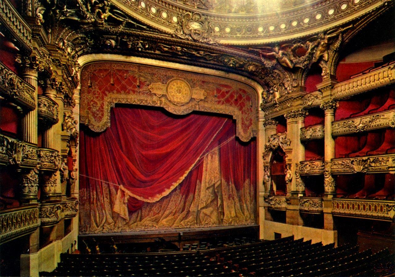Mon Top 10 Paris: N°6: L'Opéra Garnier - Sur Les Pas De à Rideau De Scene