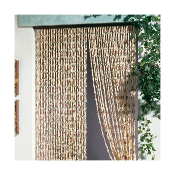 Morel - Rideau De Porte Malaga Torsades De Maïs 100X220 Cm destiné Rideau De Porte Pas Cher