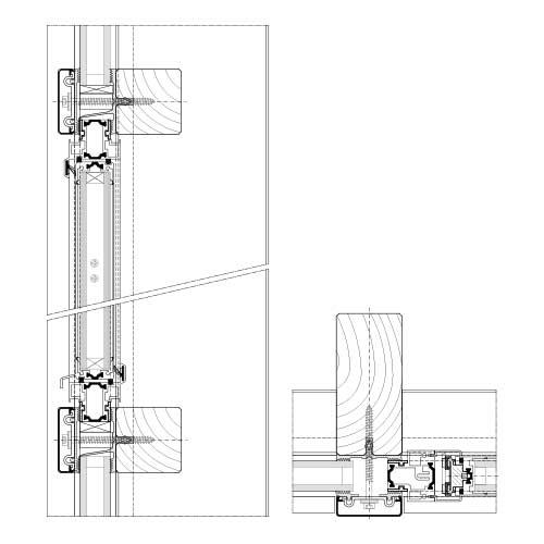 Mur Rideau Et Verrière Systèmes Bois | Stabalux H concernant Rideau Dwg