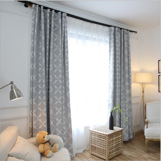 Nouveauté Moderne Simple Jacquard Style Fenêtre Rideau concernant Rideaux Jacquard Jaune