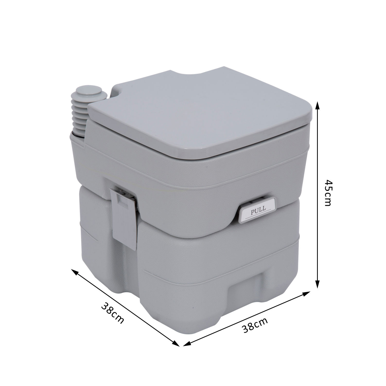 Outsunny 20L Camping Toilet Portable Travel Wc Caravan concernant Toilettes Portables