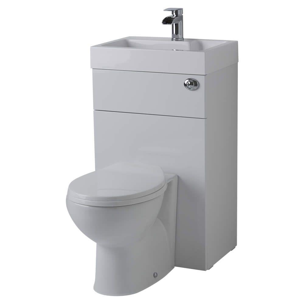 Ovale Toilette Mit Spülkasten Und Integriertem Waschbecken à Toilette Sortie Verticale