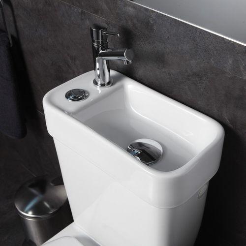 Pack Wc 2 En 1 Avec Lave-Mains Écologique Sortie intérieur Toilette Sortie Verticale