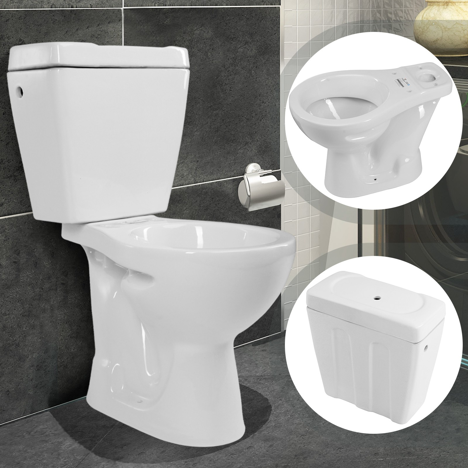 Pack Wc À Sortie Verticale Avec Réservoir Céramique Wc dedans Toilette Sortie Verticale