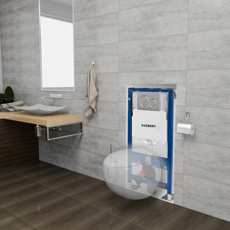 Pack Wc Complet Suspendu Geberit Sous Forme D'Un Œuf intérieur Toilette Suspendu Geberit