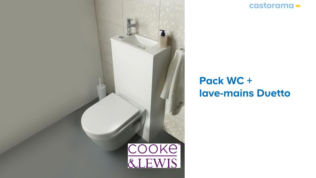 Pack Wc + Lave-Mains Duetto 2 Cooke & Lewis (671901 à Toilettes Broyeur