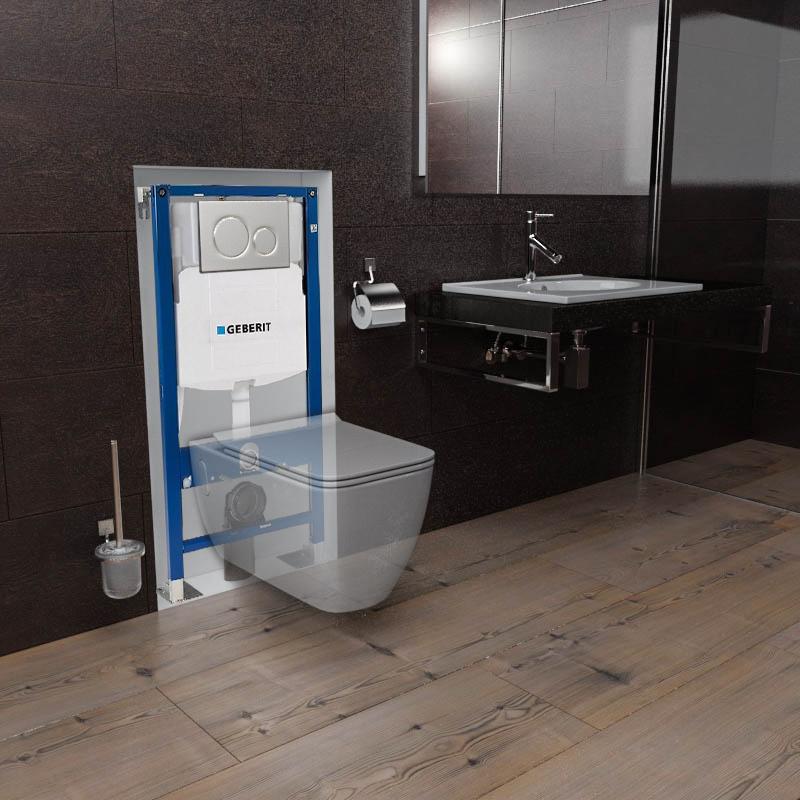 Pack Wc Suspendu Geberit Métro, Installez Votre Pack serapportantà Toilette Suspendu Geberit