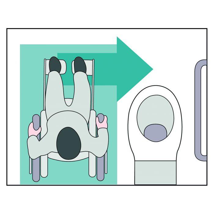 Panneau Signalétique Indiquant Des Toilettes Pmr Avec avec Toilettes Handicapés Dimensions