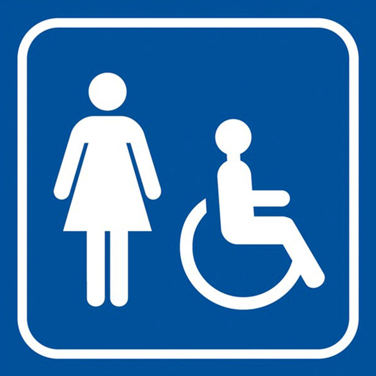 """Panneau Signalétique """"Toilette Femme Handicapé"""" serapportantà Toilettes Handicapés Dimensions"""