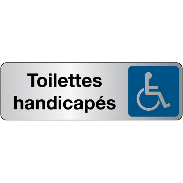 Panneau Signalétique - Toilettes Handicapés - En Pvc Ou encequiconcerne Toilettes Handicapés