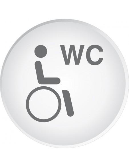 Panneau Toilettes Handicapés (Pmr) - Signalisation De encequiconcerne Toilettes Handicapés Dimensions