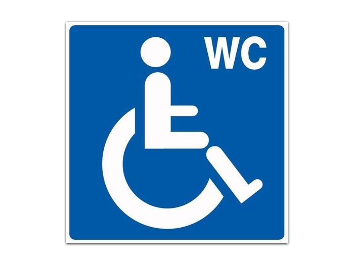 Panneau Toilettes Handicapés - Protection Hygiène Et Sécurité encequiconcerne Toilettes Handicapés