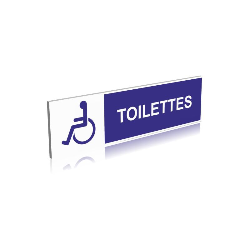 Panneau Toilettes Handicapés - Signalétique Handicape - Pmr serapportantà Toilettes Handicapés Dimensions