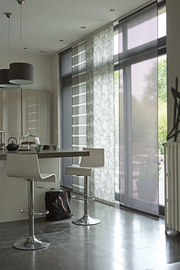 Panneaux Japonais En Voile - Heytens   New Home destiné Rideau De Porte Ikea