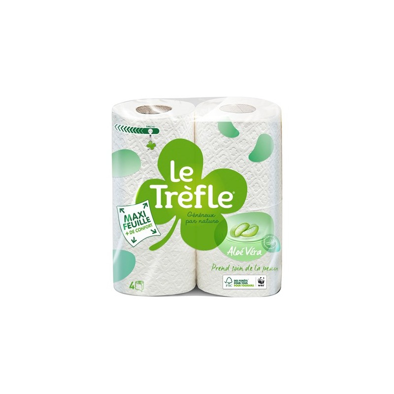 Papier Toilette Le Trèfle Aloé à Trefle Papier Toilette