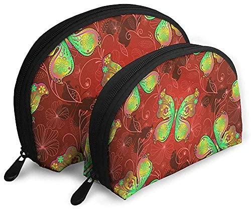 Papillons Rouge Vif Sacs Portables Sac De Maquillage encequiconcerne Trousse De Toilette Elite
