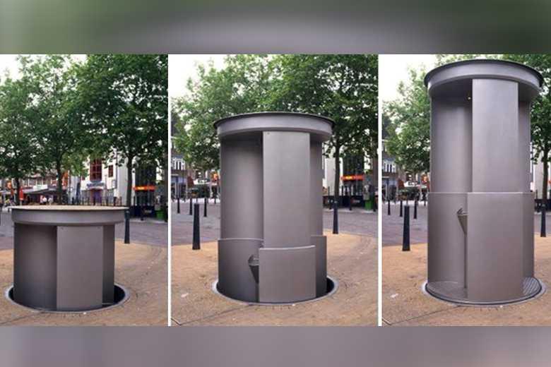 Paris Teste Les Pop-Up Toilet, Des Toilettes Publiques intérieur Toilette Publique Paris