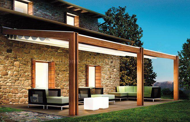 Pergola Contemporaine Bois | Pergola, Pergola Bois concernant Rideau Plastique Transparent Pour Terrasse