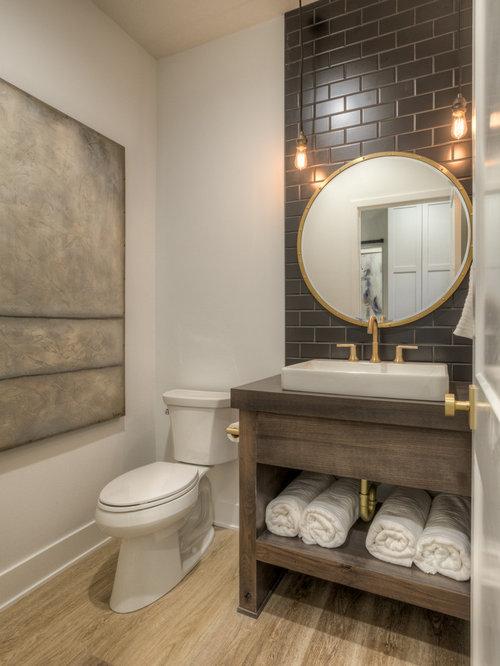 Photos Et Idées Déco De Wc Et Toilettes Avec Un Carrelage intérieur Placard De Toilette