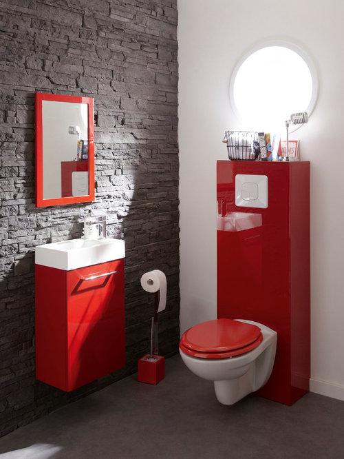 Photos Et Idées Déco De Wc Et Toilettes Avec Un Wc intérieur Toilette Noir Suspendu