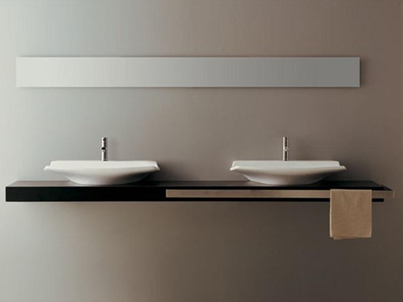 Plan De Toilette By Gsg Ceramic Design intérieur Plan De Toilette Bois