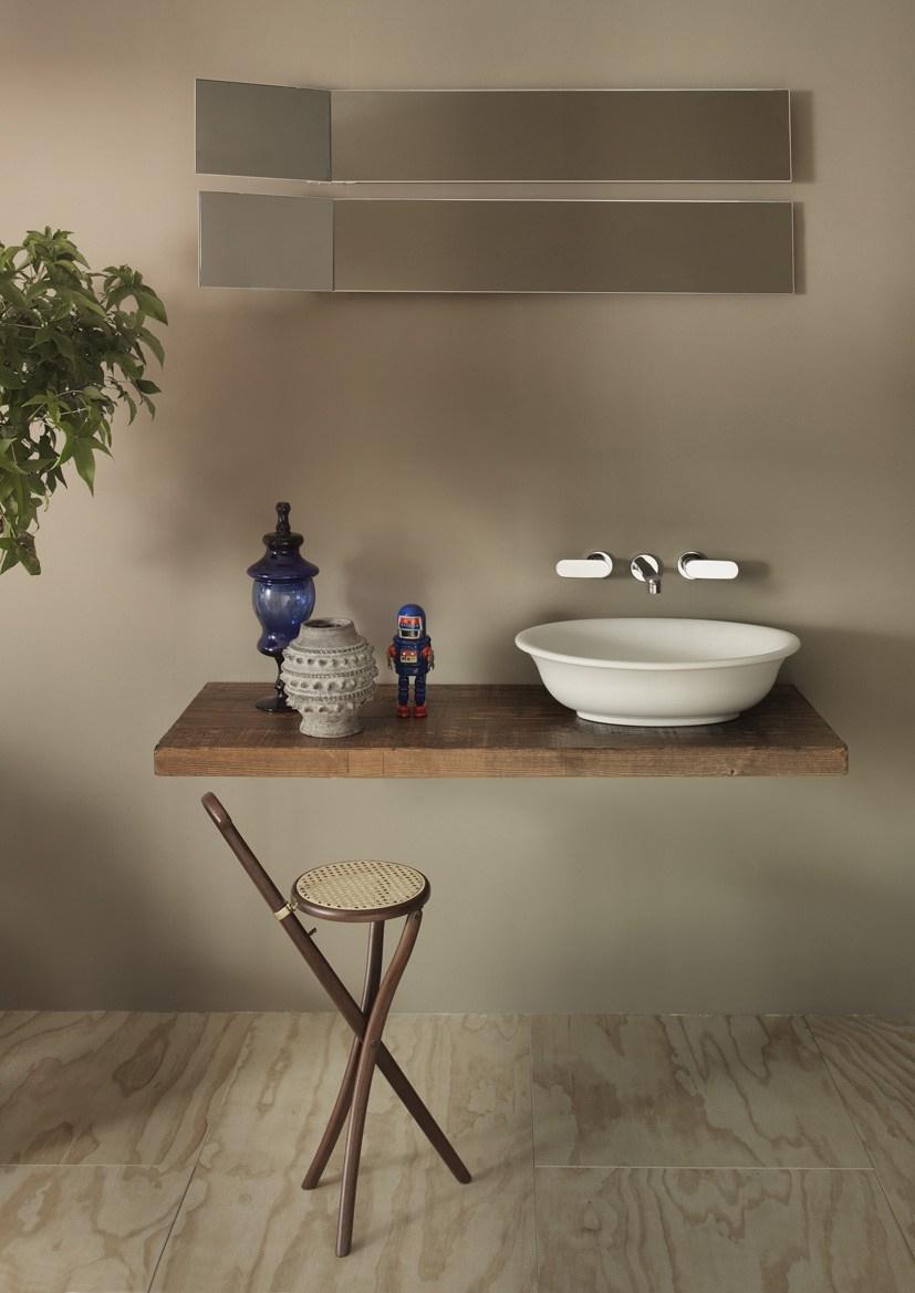 Plan De Toilette En Bois Massif Solid By Ceramica Flaminia serapportantà Plan De Toilette Bois